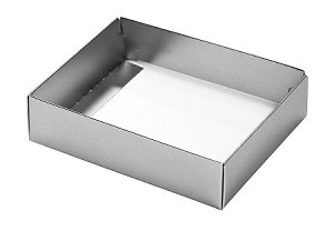 BY THE PIECE, Folding Carton, This Top - That Bottom Base, 4 oz., Rectangle, Metallic Silver, Single-Layer