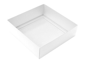 Folding Carton, This Top - That Bottom, Base, 16 oz., Square, White, Double-Layer, QTY/CASE-50