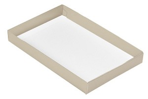 Folding Carton, This Top - That Bottom, Base, 16 oz., Rectangle, Pearlescent, Single-Layer, QTY/CASE-50