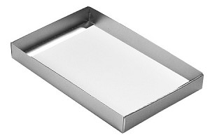 Folding Carton, This Top - That Bottom, Base, 16 oz., Rectangle, Metallic Silver, Single-Layer, QTY/CASE-50