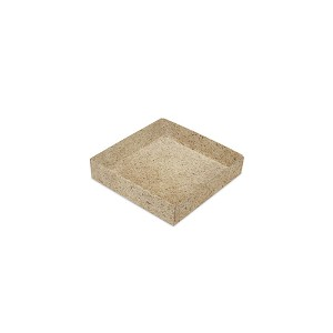 BY THE PIECE, Folding Carton, Base, 3 oz., Petite, Square, Light Cocoa 30%