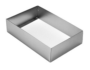 BY THE PIECE, Folding Carton, This Top - That Bottom Base, 16 oz., Rectangle, Double-Layer, Metallic Silver