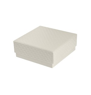 Rigid Set-up Box, Gift Box, Single-Layer, Square, Petite, 3 oz., Pearlescent, QTY/CASE-24