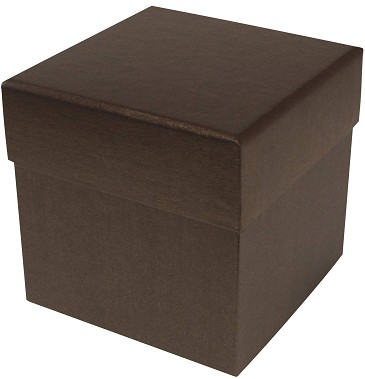 BY THE PIECE, Rigid Set-up Box, Cube, 4-Tier, Deco Bronze