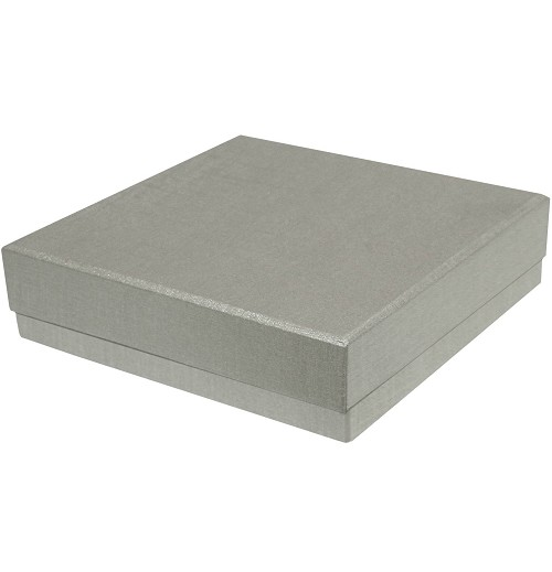 BY THE PIECE-Rigid Set-up Box, Single-Layer, Silver
