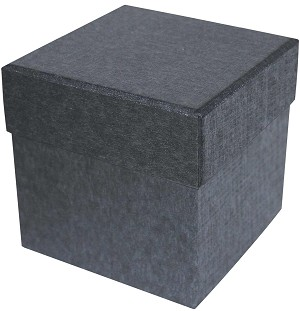 BY THE PIECE, Rigid Set-up Box, Cube, 4-Tier, Charcoal Sapphire