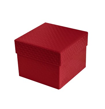 BY THE PIECE, Rigid Set-up Box, Cube, Petite, 2-Tier, 5th Ave. Red