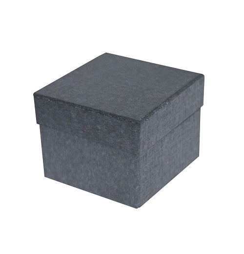 BY THE PIECE, Rigid Set-up Box, Cube, 2-Tier, Petite, Charcoal Sapphire