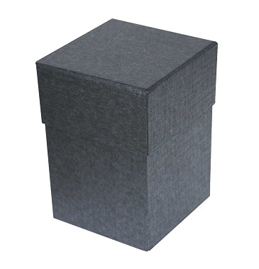 BY THE PIECE, Rigid Set-up Box, Cube, Petite, 4-Tier, Charcoal Sapphire