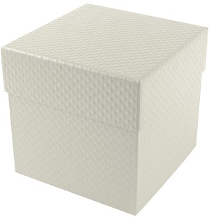 BY THE PIECE, Rigid Set-up Box, Cube, 4-Tier, Pearlescent