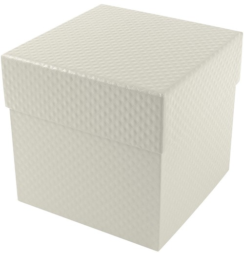 Rigid Set-up Box, Cube, 4-Tier, Pearlescent, QTY/CASE-12