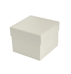 BY THE PIECE, Rigid Set-up Box, Cube, Petite, 2-Tier, Pearlescent