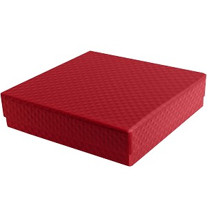 BY THE PIECE-Rigid Set-up Box, Single-Layer, 5th Ave. Red