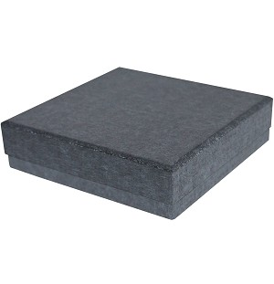 Rigid Set-up Box, Gift Box, Single-Layer, Square, 8 oz., Charcoal Sapphire, QTY/CASE-24