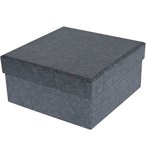 BY THE PIECE, Rigid Set-up Box, Cube, 2-Tier, Charcoal Sapphire