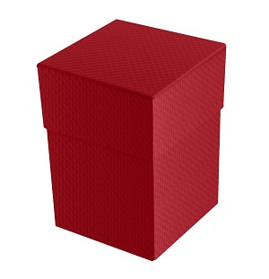 BY THE PIECE, Rigid Set-up Box, Cube, Petite, 4-Tier, 5th Ave. Red