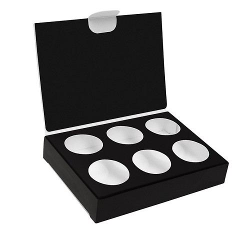 BY THE PIECE, Artisan Series Box with Flip Lid, 6-Piece, Black, 4-1/2 x 3-1/4 x 7/8
