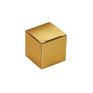BY THE PIECE, Folding Carton, Anytime Favor Box, 1-Piece, Square, Metallic Gold