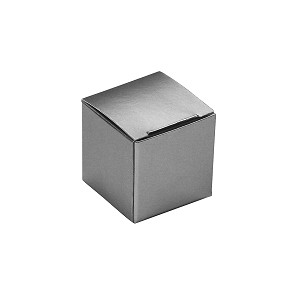 BY THE PIECE, Folding Carton, Anytime Favor Box, 1-Piece, Square, Metallic Silver