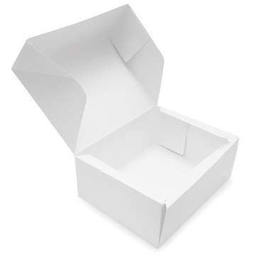 BY THE PIECE, Folding Carton, Bulk-Packing Box, White