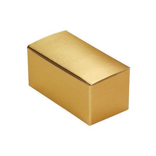 BY THE PIECE, Anytime Favor Box, 2-Piece, Metallic Gold, 2-3/4 x 1 x 1-1/4