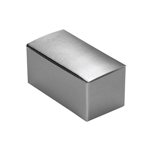 Anytime Favor Box, 2-Piece, Metallic Silver, 2-3/4 x 1 x 1-1/4