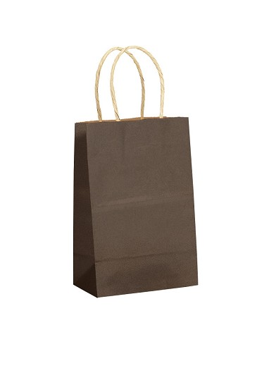"Kraft Bag, Chocolate Natural, 5.5 x 3.25 x 8.375"", QTY/CASE-250"