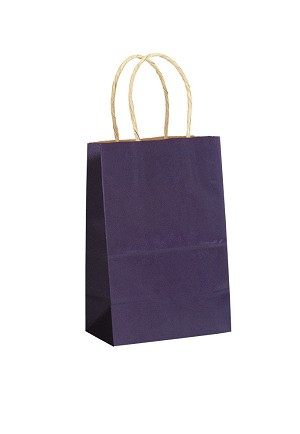 "Kraft Bag, Purple Natural, 5.5"" x 3.25"" x 8.375"", QTY/CASE-250"