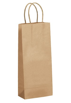 "Kraft Bag, Natural,5.5"" x 3.25"" x 13"", QTY/CASE-250"