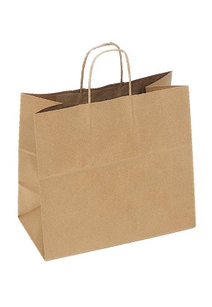 "Kraft Bag, Natural, 13"" x 7"" x 13"", QTY/CASE-250"