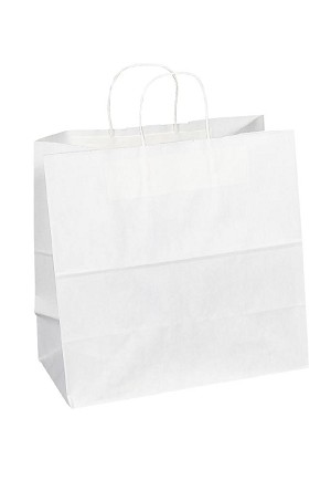 "Kraft Bag, White, 13"" x 7"" x 13"", QTY/CASE-250"