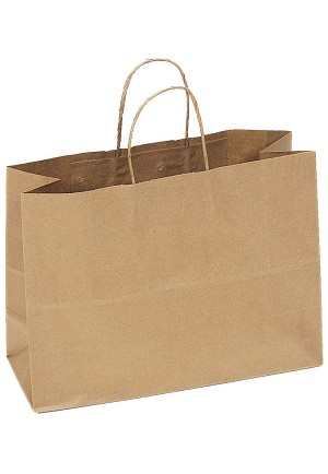 "Kraft Bag, Natural, 16"" x 6"" x 12"", QTY/CASE-250"