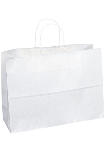 "Kraft Bag, White, 16"" x 6"" x 12"", QTY/CASE-250"
