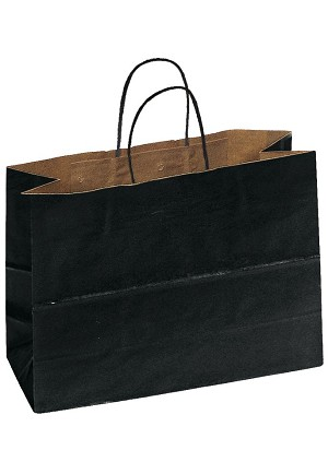 "Kraft Bag, Black Natural, 16"" x 6"" x 12"", QTY/CASE-250"
