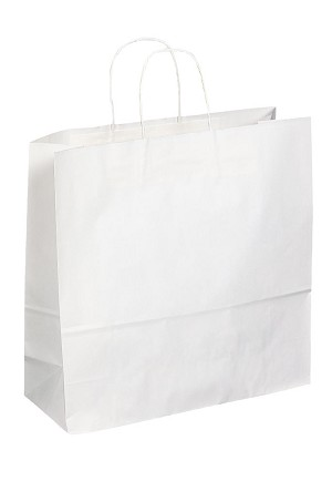 "Kraft Bag, White, 16"" x 6"" x 16"", QTY/CASE-200"