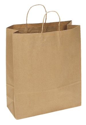 "Kraft Bag, Natural, 16"" x 6"" x 19"", QTY/CASE-200"