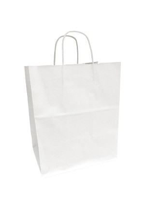 "Kraft Bag, White, 10"" x 7"" x 12"", QTY/CASE-250"
