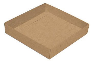 BY THE PIECE, Folding Carton, This Top - That Bottom Base, 8 oz., Square, Kraft, Single-Layer