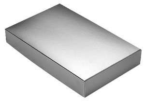 BY THE PIECE, Folding Carton,  This Top - That Bottom Lid, 8 oz., Rectangle, Metallic Silver