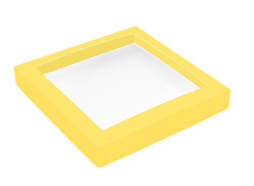This Top - That Bottom, Window Lid, Square, Yellow, 7-1/2 x 7-1/2 x 1