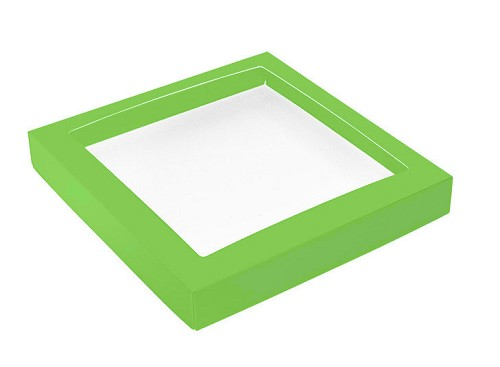 This Top - That Bottom, Window Lid, Square, Leaf Green, 7-1/2 x 7-1/2 x 1