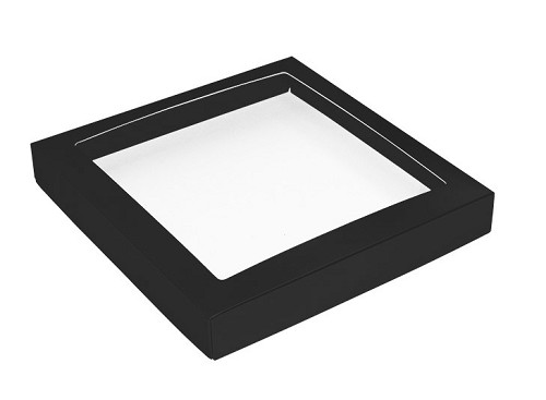 This Top - That Bottom, Window Lid, Square, Black, 7-1/2 x 7-1/2 x 1