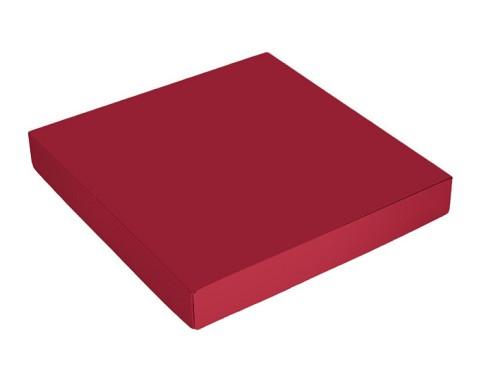 This Top - That Bottom, Lid, Square, Red, 7-1/2 x 7-1/2 x 1