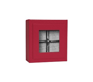 BY THE PIECE, Rigid Set-up Box, Magnetic Charm Window Box, Square, 3 oz., 5th Ave. Red