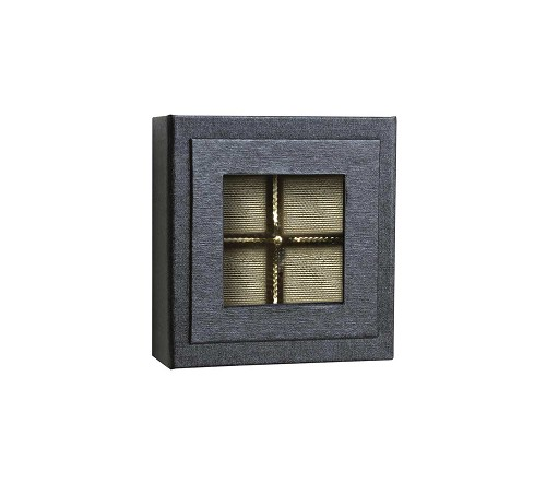 BY THE PIECE, Rigid Set-up Box, Magnetic Charm Window Box, Square, 3 oz., Charcoal Sapphire