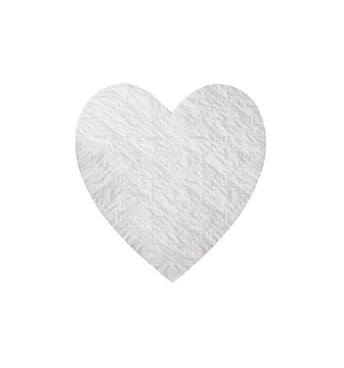 Padding, Heart, White, 4 oz., 4-1/2 x 4-3/5