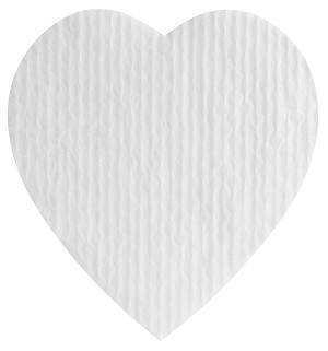 BY THE PIECE, Padding, Heart, White, 1 lb.
