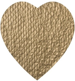 BY THE PIECE, Padding, Heart, Gold, 1 lb.