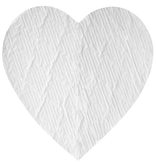 BY THE PIECE, Padding, Heart, White, 1-1/2 lb., 10-1/4 x 10-1/2