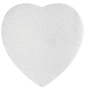 Padding, Heart, White, 2 lb., QTY/CASE-50